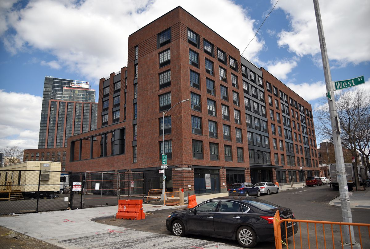 Exploring the last vestiges of greenpoints post industrial at the intersection of eagle street and west street sits another finished piece of the greenpoint landing complex this residential building was constructed malvernweather Choice Image