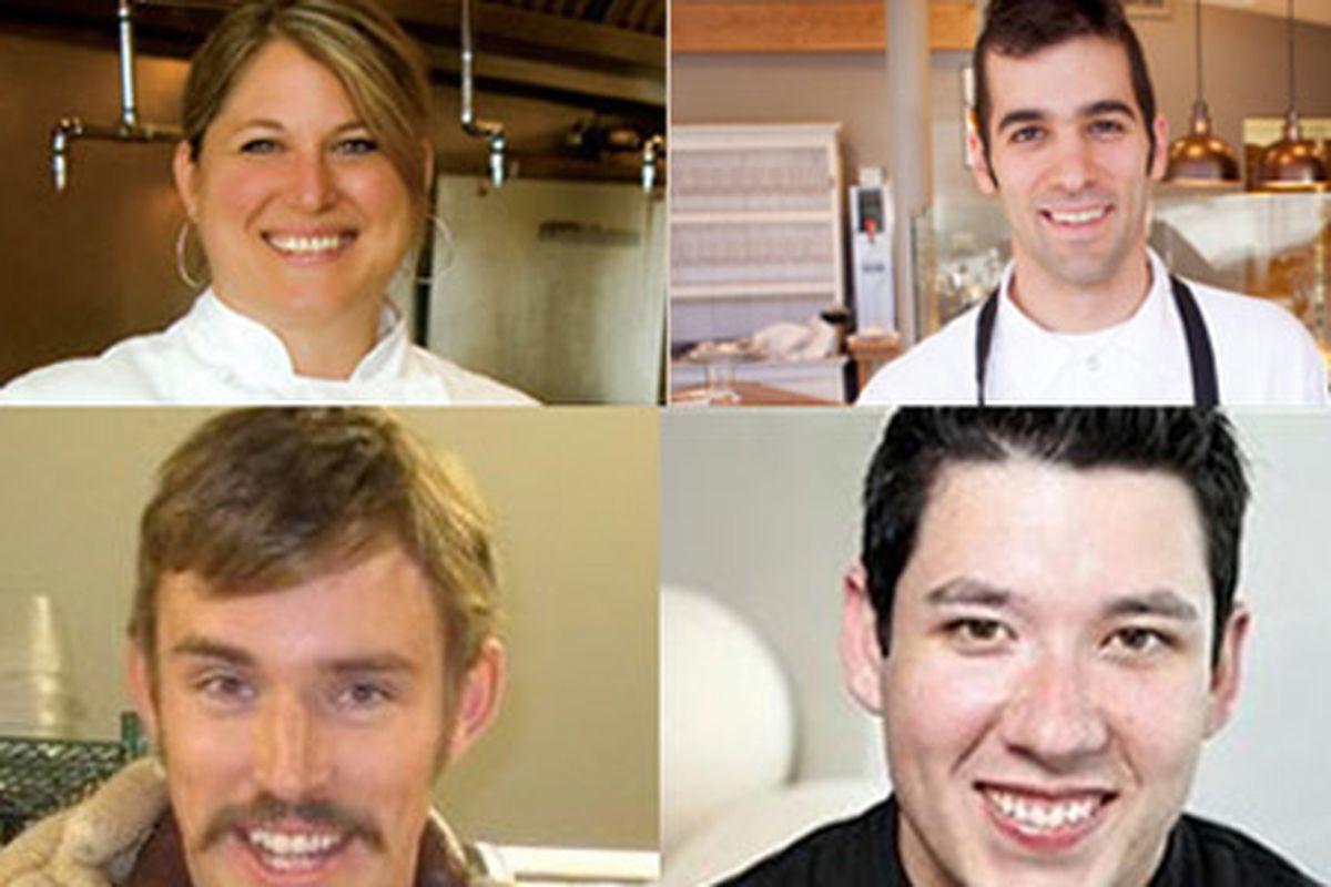 From Top (Left-Right): Elise Wiggins, Steven Redzikowski, Jorel Pierce, Jensen Cummings