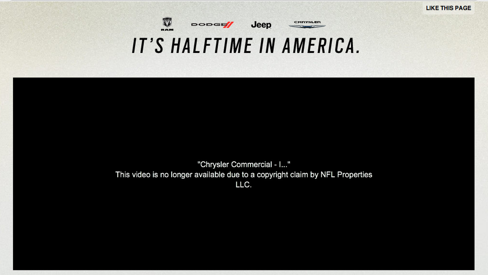 halftime in america chrysler commercial Chrysler – 2012 – it's halftime in america 2011 chrysler – 2011 superbowl-commercialsorg serves up game day chrysler – 2012 – it's halftime.