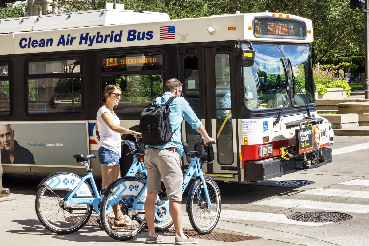 New map tool combines Divvy, public transit for best route - Curbed Divvy Map Chicago on