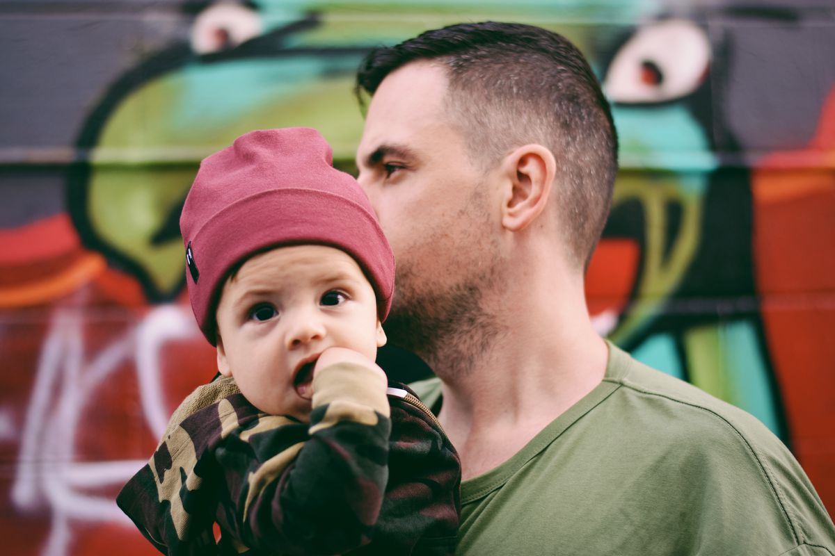 df2a659940e652 Chris and Archer Brooke show off their  fits for the Sneakerhead Dad  Instagram account.