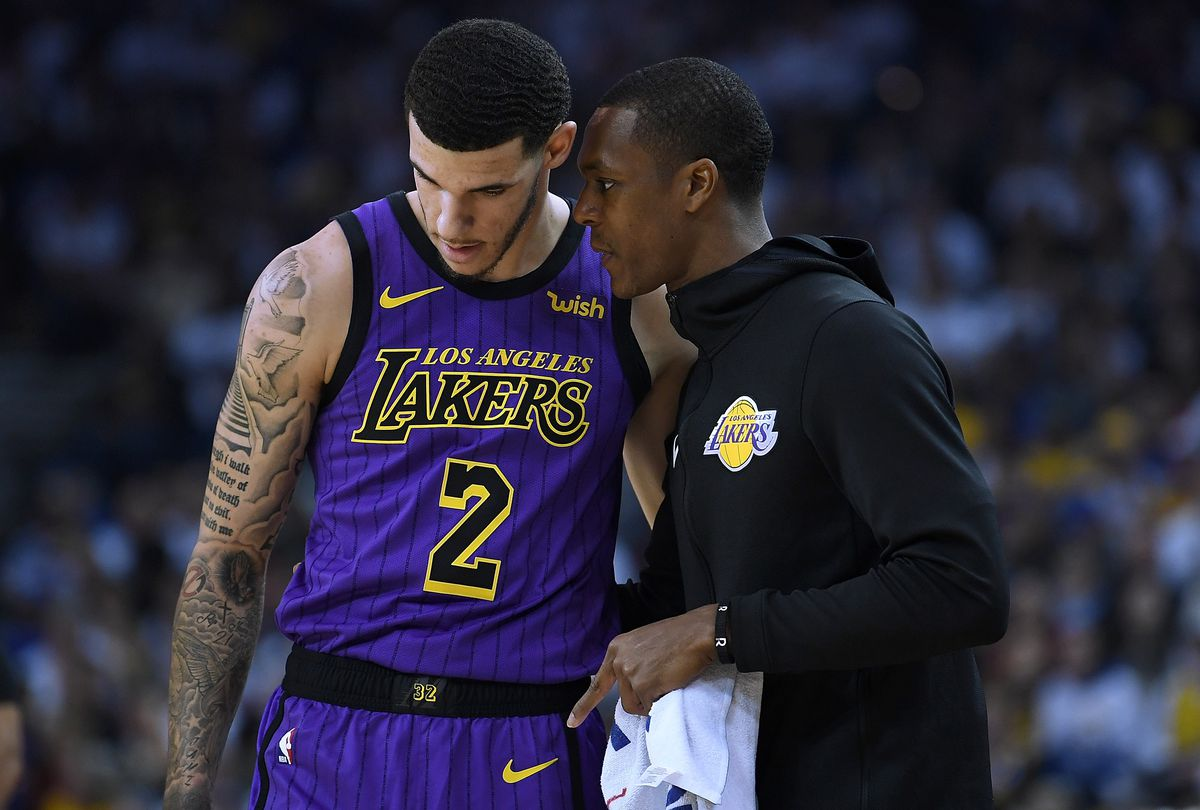Kyle Kuzma says young Lakers look up to Rajon Rondo, who has been