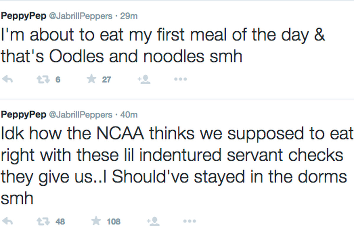 Jabrill Peppers takes a shot at the NCAA on Twitter