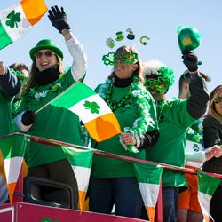 The ComEd float in the 2018 Chicago St. Patrick's Day Parade, Saturday, March 17th, 2018. | James Foster/For the Sun-Times