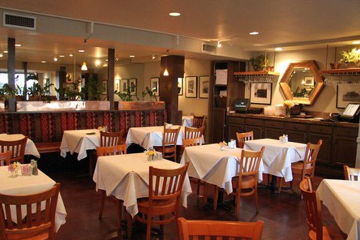 Dining room at Café Rani.