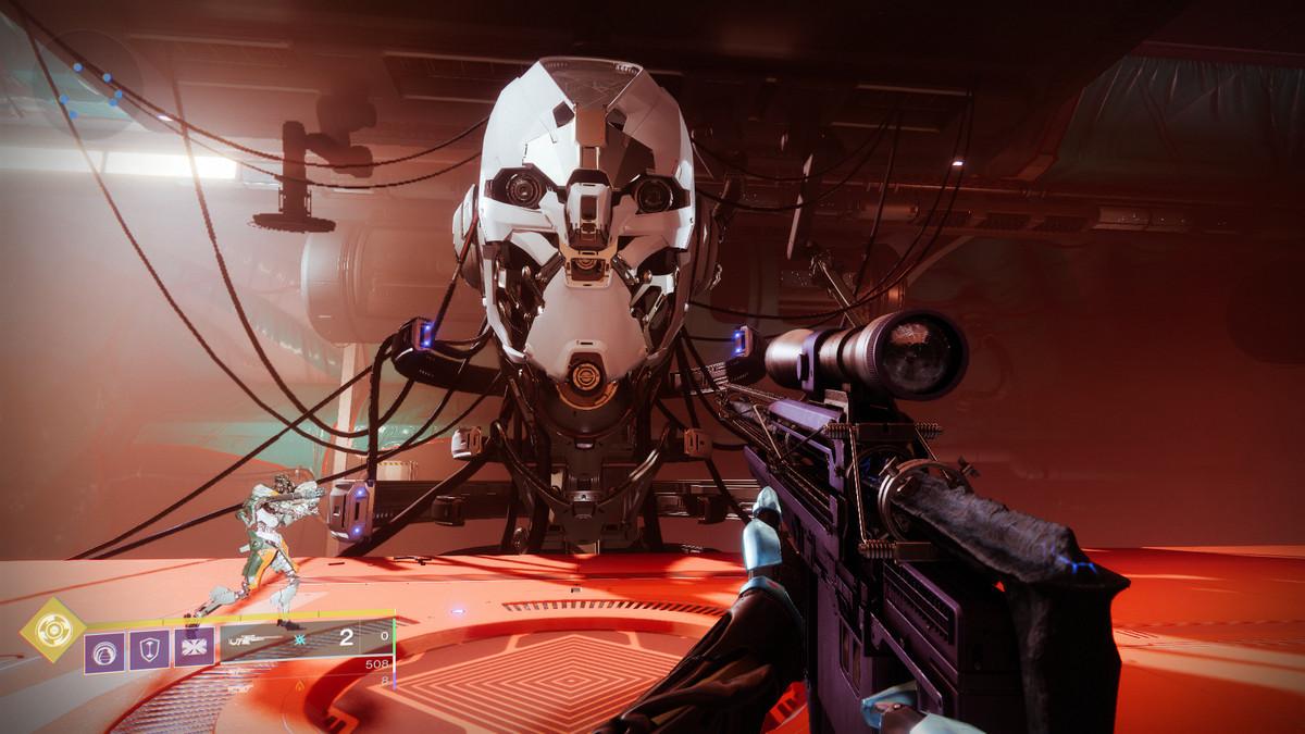 Destiny 2 Clovis AI's big Exo head