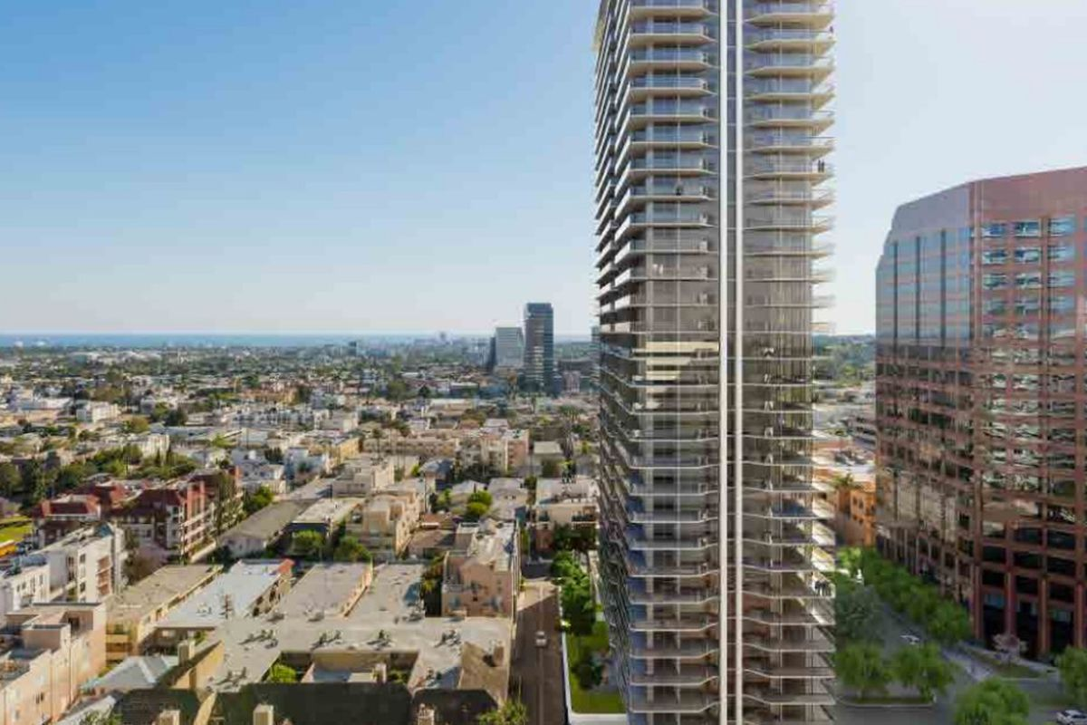 34 story tower planned for brentwood moving forward curbed la. Black Bedroom Furniture Sets. Home Design Ideas