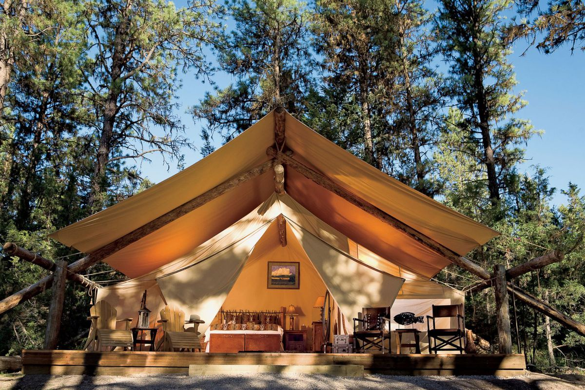 A Two Bedroom Tent At River Camp One Of The Many Places To Glamp Resort Paws Up Courtesy
