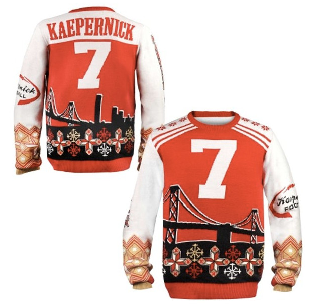 sale retailer 1cbaf 1f815 Get your 49ers, Colin Kaepernick ugly Christmas sweaters ...