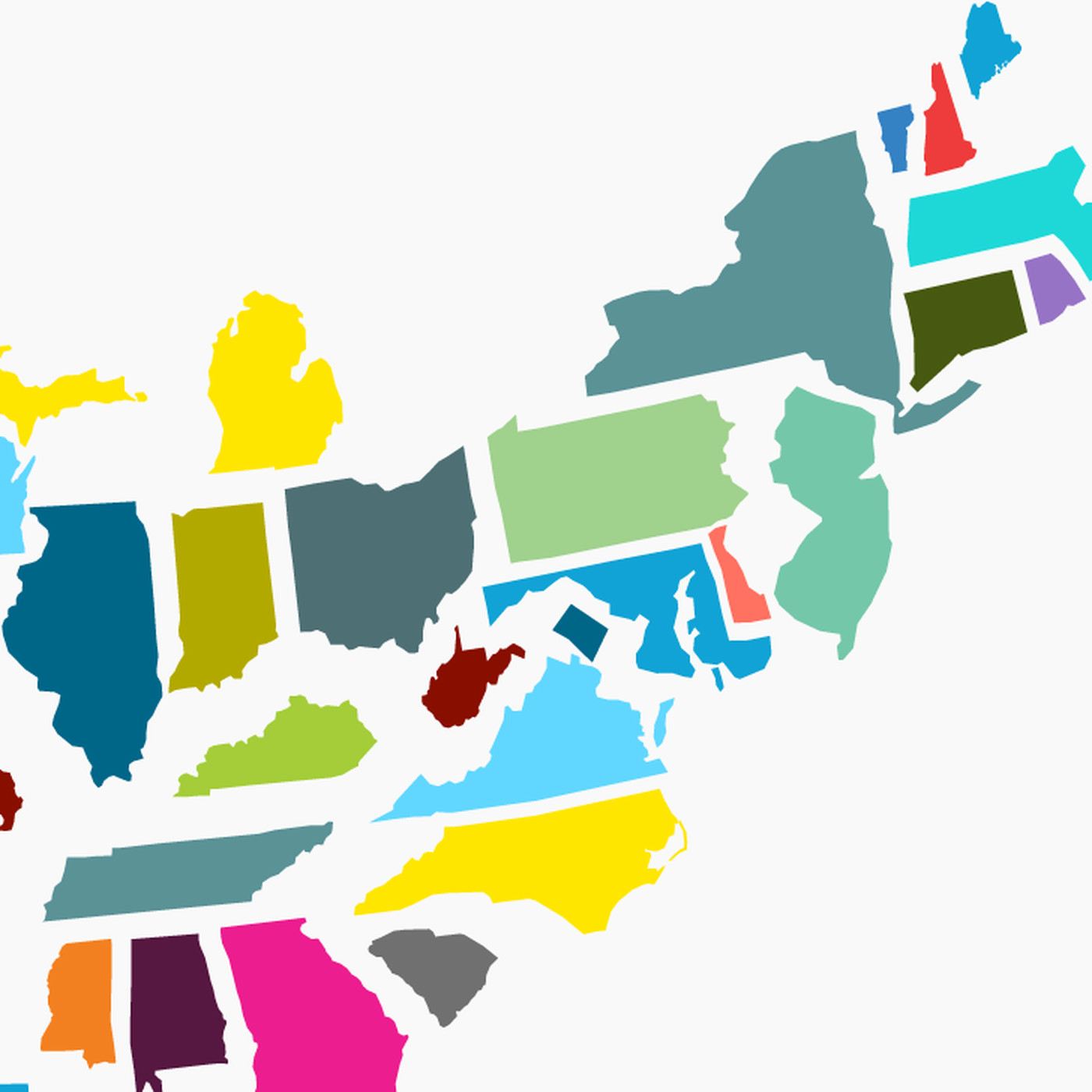 United States Of America Map Of States.This Is What The United States Looks Like If You Scale States By