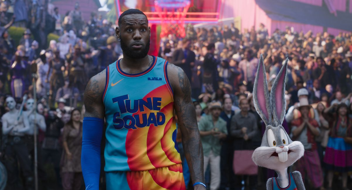 """NBA star LeBron James in """"Space Jam: A New Legacy."""""""