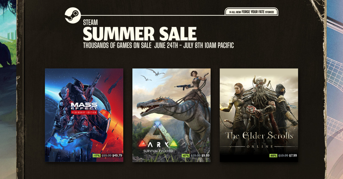Steam's summer sale is here to relieve you of your money