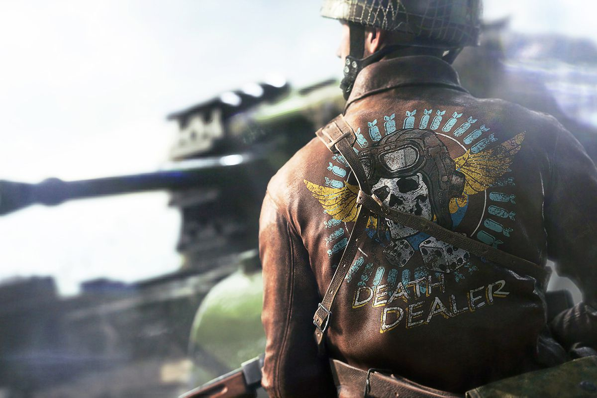A player sporting a sweet painted leather jacket in Battlefield 5