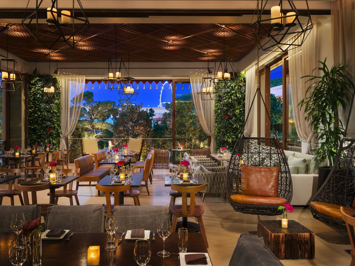 The garden lounge at La Cave Wine & Food Hideaway