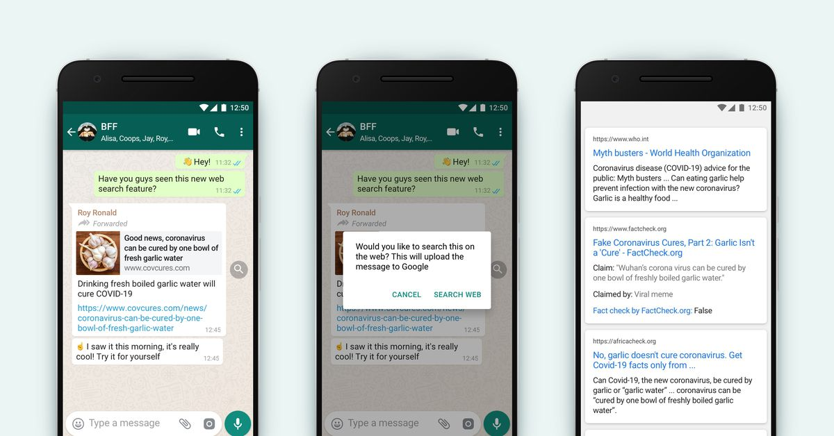 WhatsApp adds search feature to help users debunk viral messages
