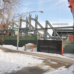 Work fences have been moved to give them more room to maneuver on Waveland -