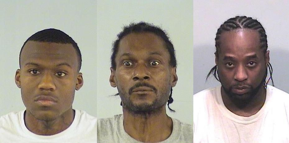 From left: Fazon L. Roberson, Quentin D. Triplett and Rickey Turner.   Lake County sheriff's office