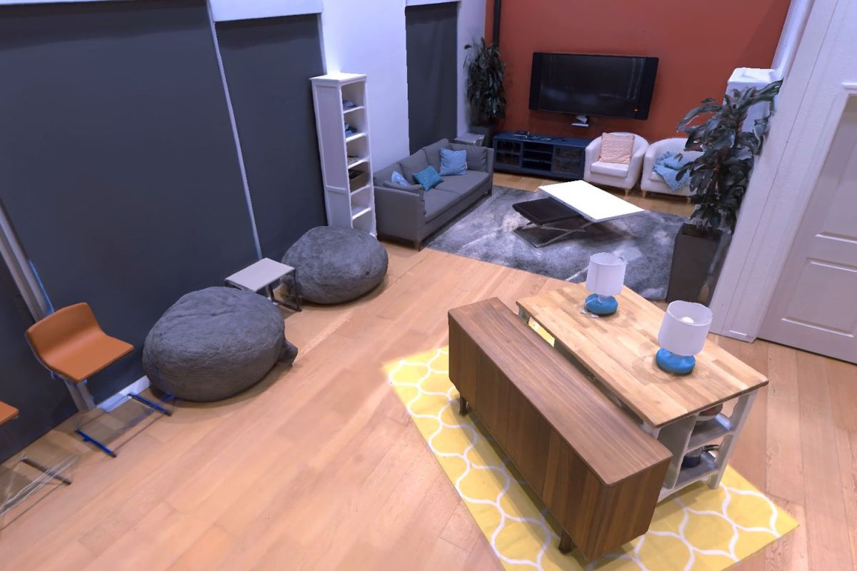 Simulated photo of a room