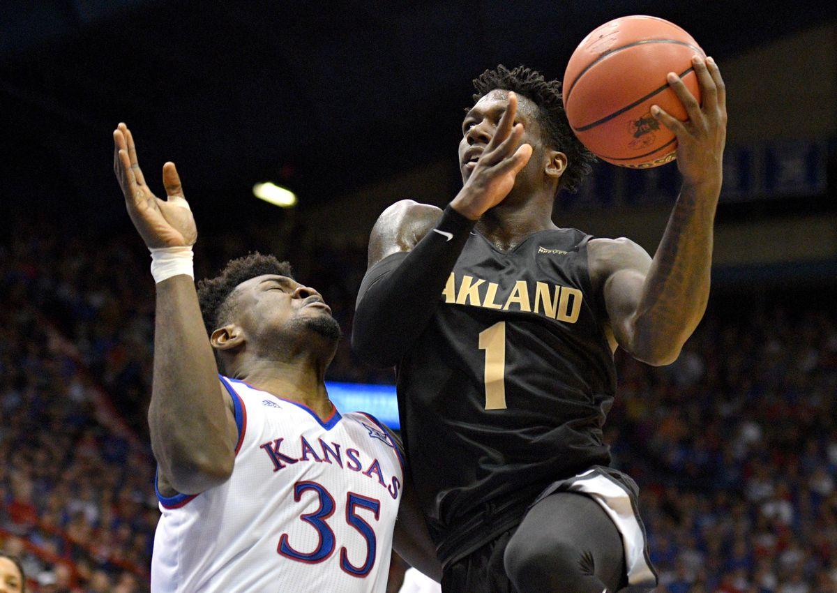 NCAA Basketball: Oakland at Kansas