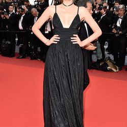 Lily Donaldson in Miu Miu at the premiere of 'Café Society.'