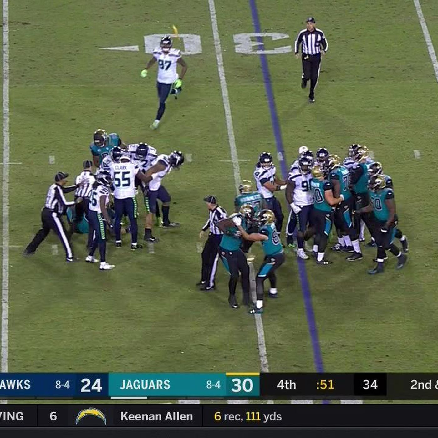 Seahawks Jaguars Fight Discipline Coming For Players And Fans