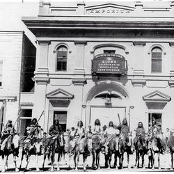 This is an image of the ZCMI Building taken in the late 1800s.