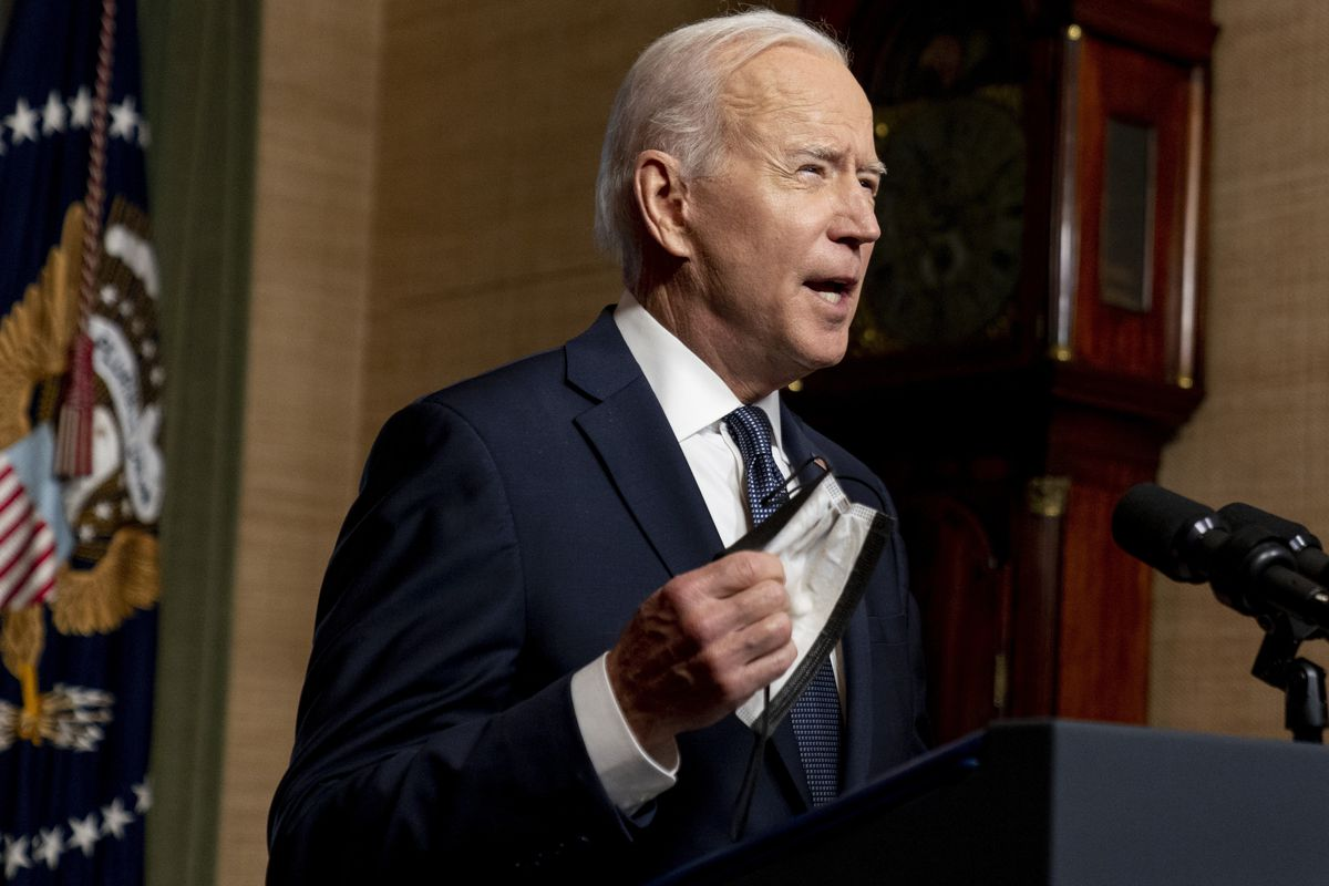 In this April 14, 2021 file photo, President Joe Biden speaks from the Treaty Room in the White House about the withdrawal of the remainder of U.S. troops from Afghanistan.