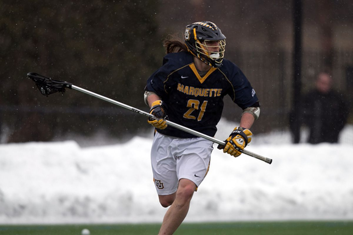 LSM Liam Byrnes is the first Marquette lacrosse player ever selected in the MLL Draft.