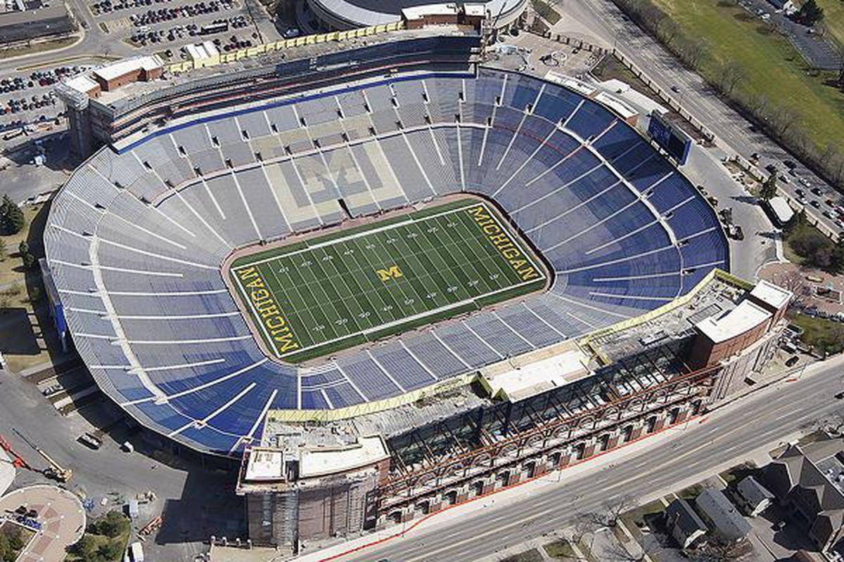 Michigan Stadium is large.