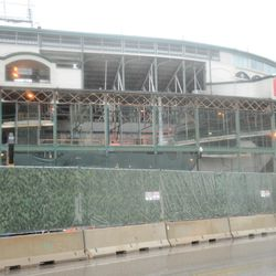 11:56 a.m. The west side of the ballpark -
