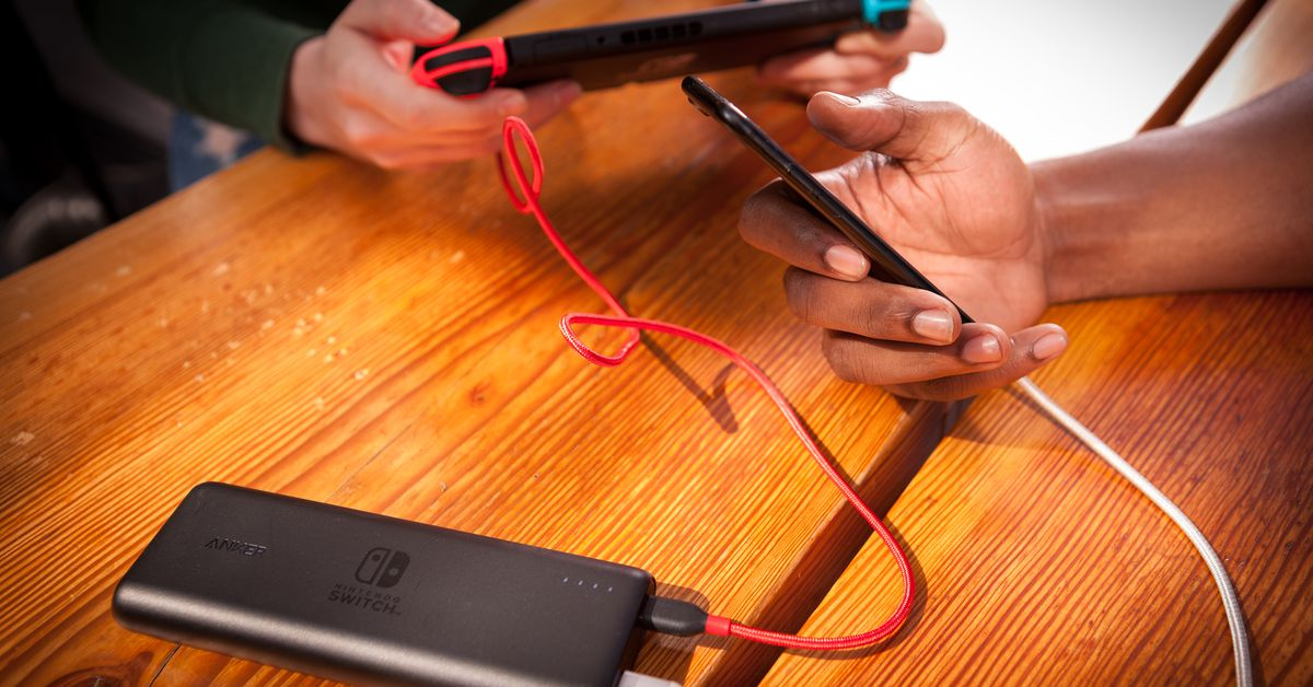 Anker partners with Nintendo on two new USB-C battery packs designed for the Switch