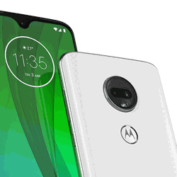 The Moto G7, with its drop-style notch display.