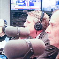 Democrat Dr. Kathie Allen, left, United Utah's Jim Bennett and Republican John Curtis are pictured during an on-air debate between 3rd Congressional District candidates hosted by KSL Newsradio in Salt Lake City on Tuesday, Oct. 10, 2017. Allen, Bennett and Curtis are vying to fill the remaining year of former GOP Rep. Jason Chaffetz's term. Chaffetz, now a Fox News contributor, resigned June 30.