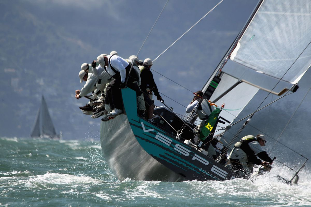 A boat competes in the Rolex Big Boat Series sailing regatta hosted by the St. Francis Yacht Club on September 9, 2011 in San Francisco, California. San Francisco will host the America's Cup in 2013.