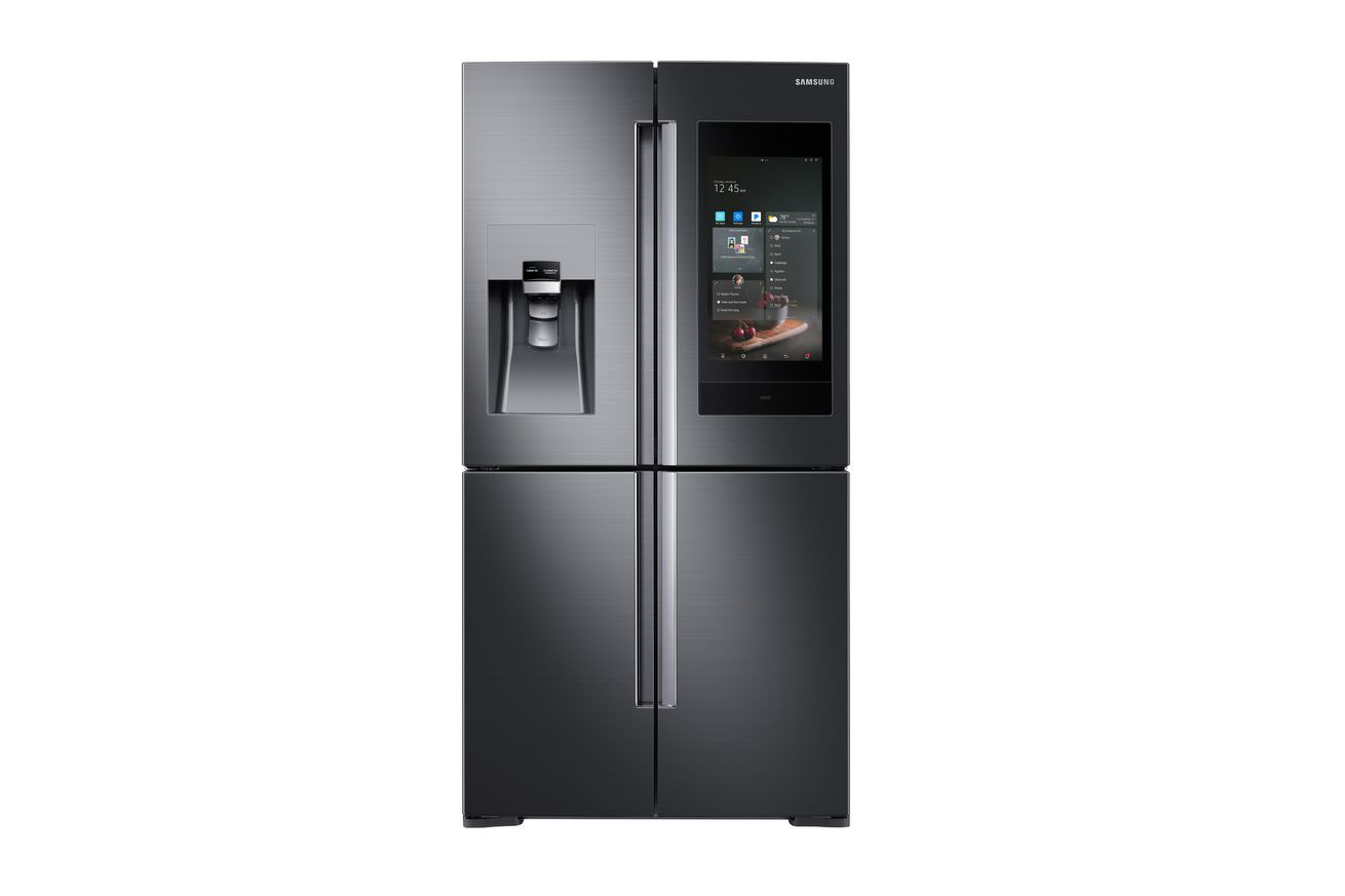 samsung s new smart refrigerator has bixby akg speakers and can control your smart home