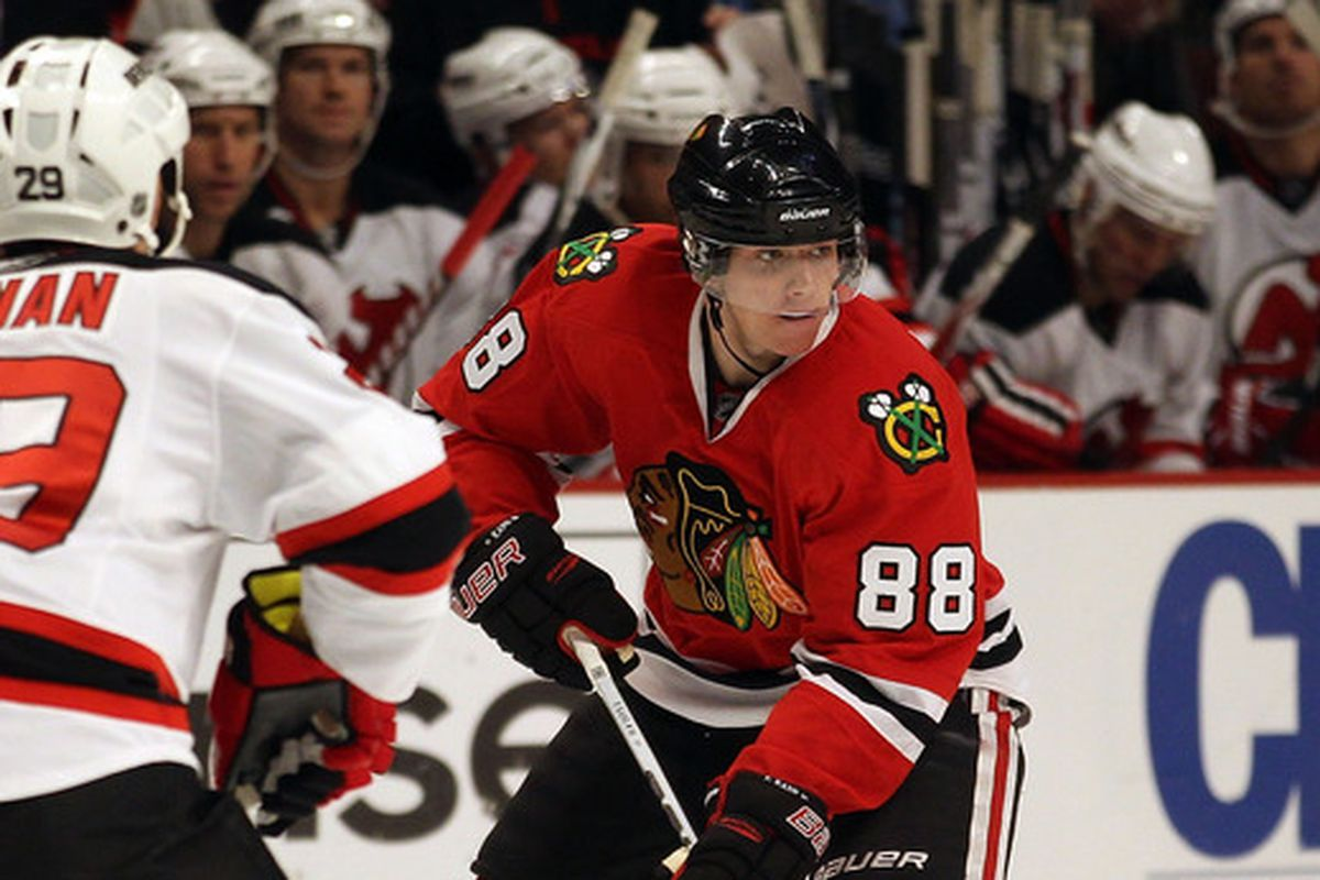 It's been a while since the Devils last went to Chicago.  At least we will not have to see Patrick Kane go up against Olivier Magnan-Grenier tonight.
