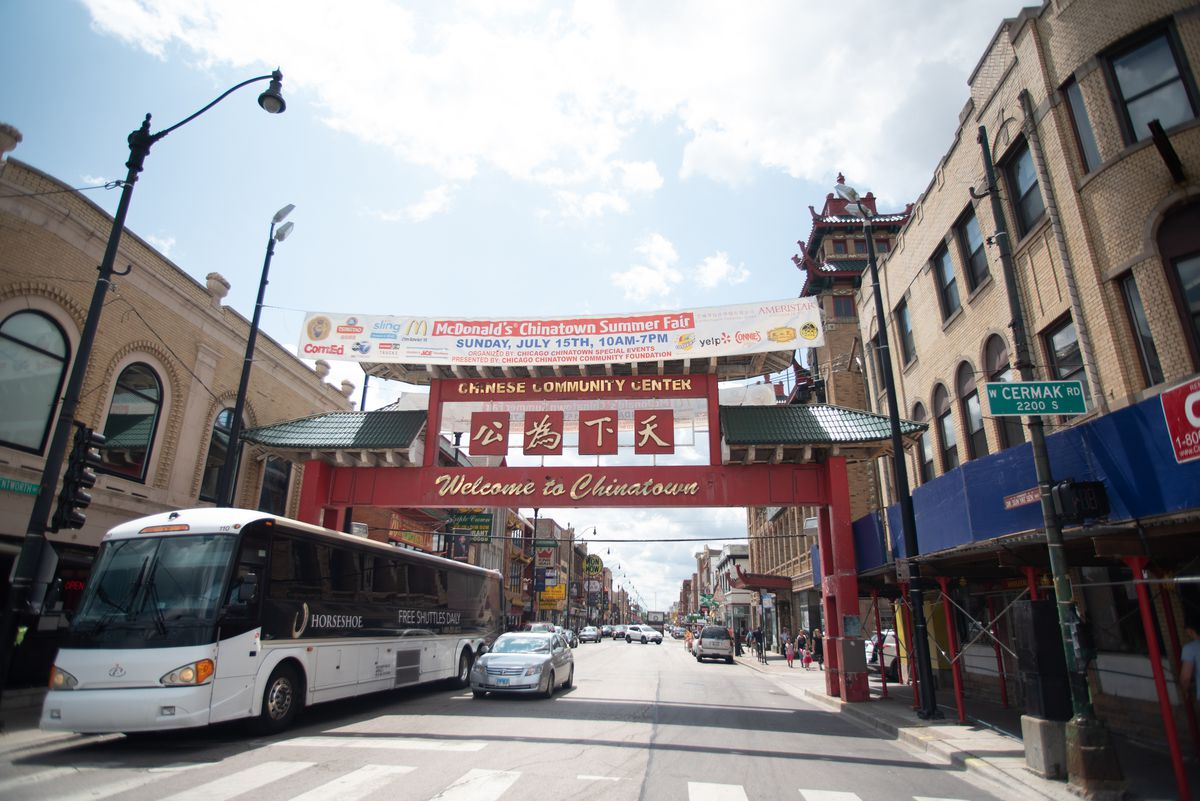 Looking south on Wentworth Avenue in the Chinatown neighborhood of Chicago, IL on July 27, 2018.   Colin Boyle/Sun-Times