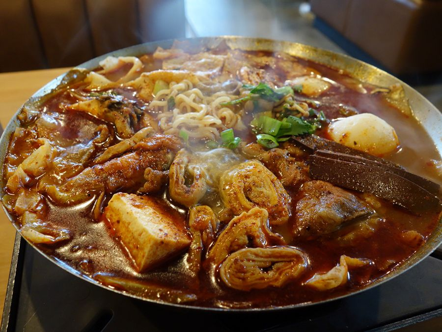 """Hot Pot King's steaming """"House Special"""" with stinky tofu."""
