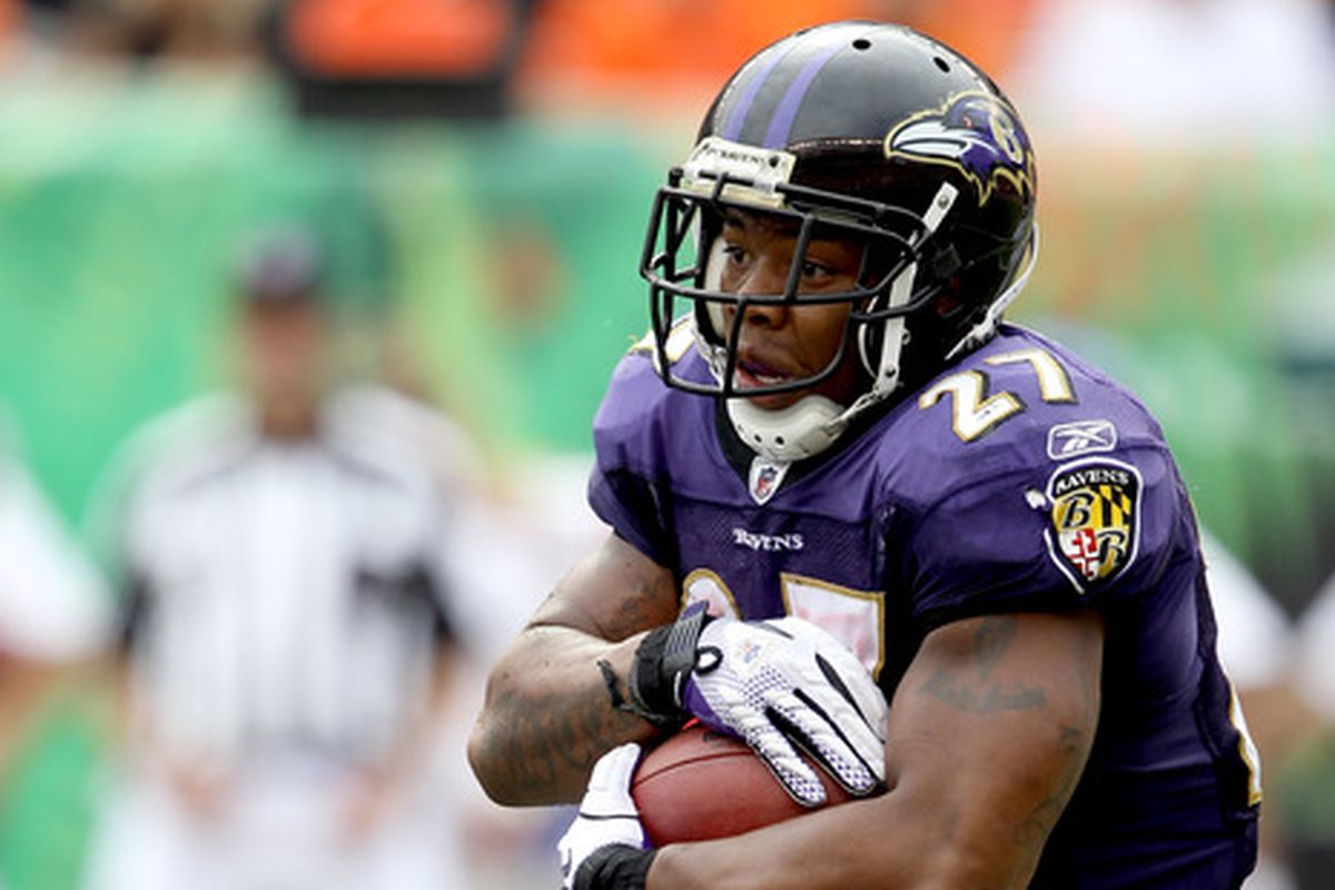 Ray Rice turned his ankle on Monday, though coach John Harbaugh said it wasn't serious.