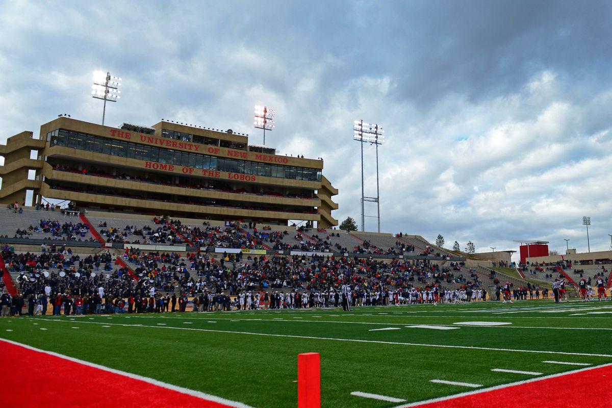 University Stadium in Albuquerque, N.M., sits 5,100 feet about sea level.