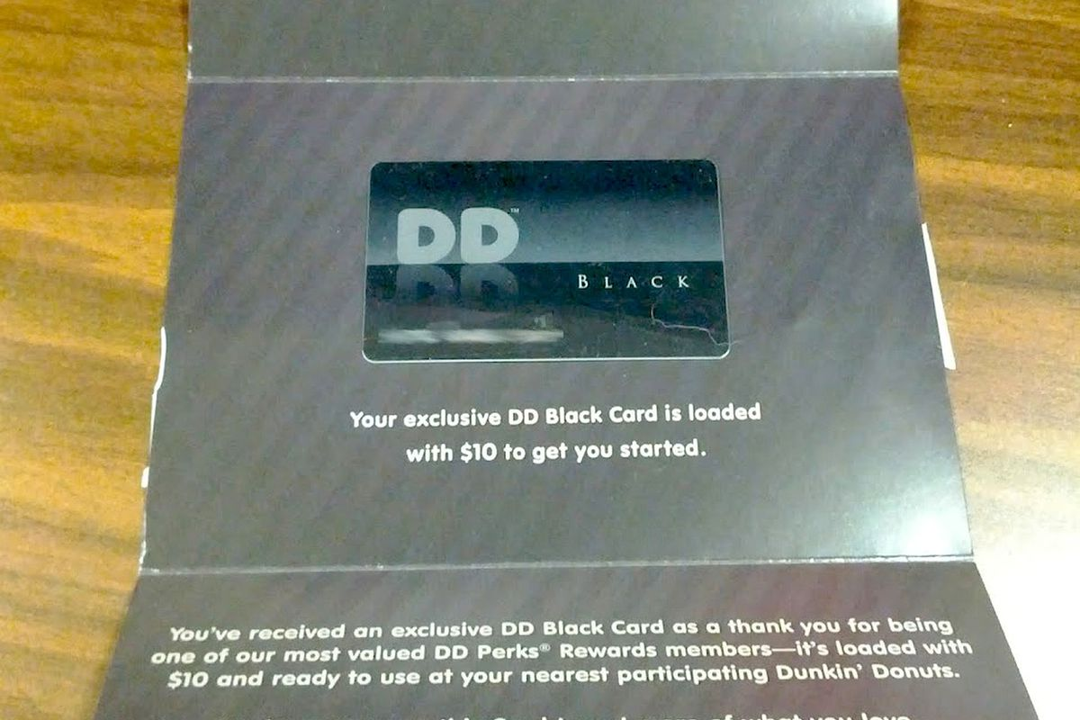 Dunkin Donuts Black Card Is Only For Truly Devoted Fans And Bj