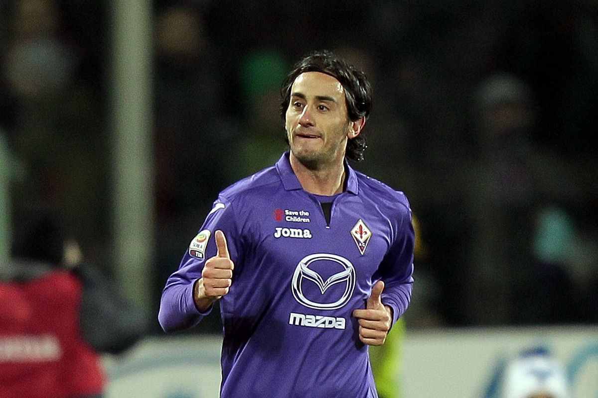 No snarky caption. Here's Aquilani celebrating his hat trick against Genoa.