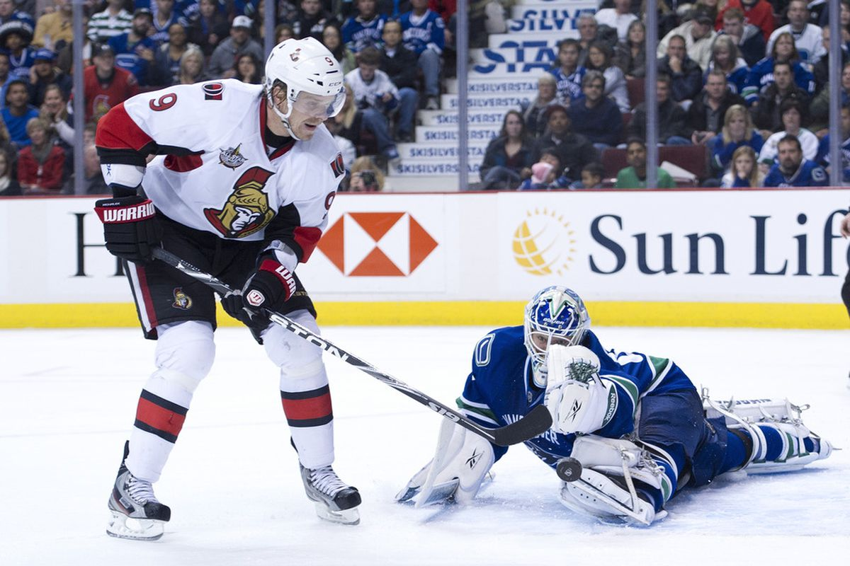 Here is Milan Michalek with a scoring chance. (Photo by Rich Lam/Getty Images)