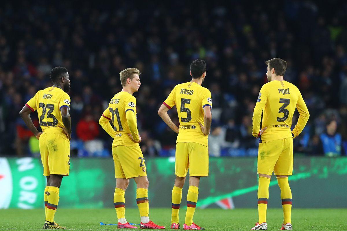 SSC Napoli v Fc Barcleona - UEFA Champions League