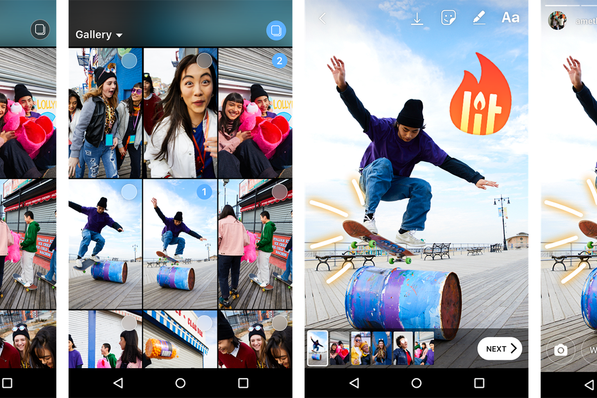 Instagram now lets you share multiple photos and videos at once on