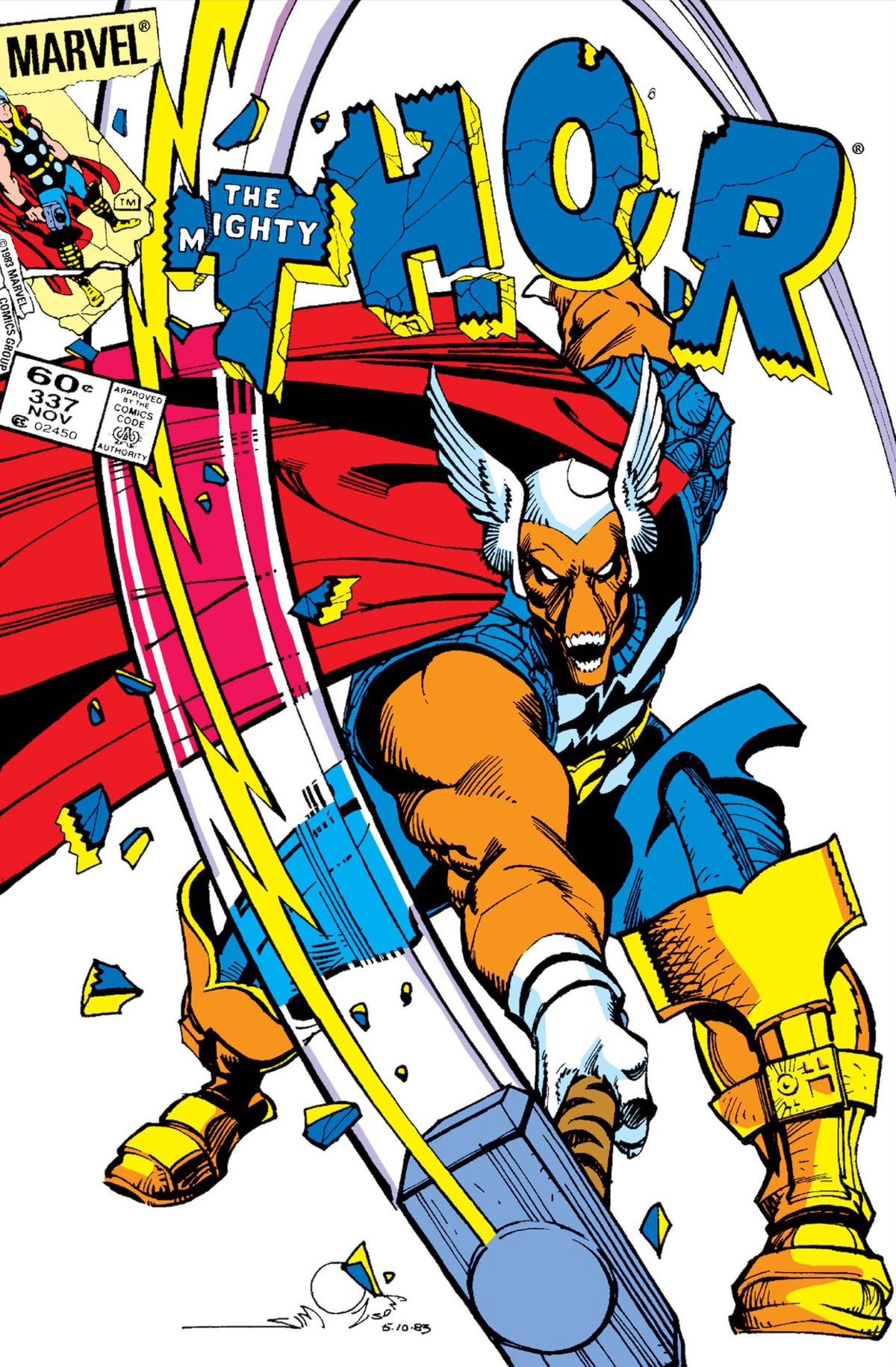 Beta-Ray Bill on the cover of Thor #337, Marvel Comics (1983).
