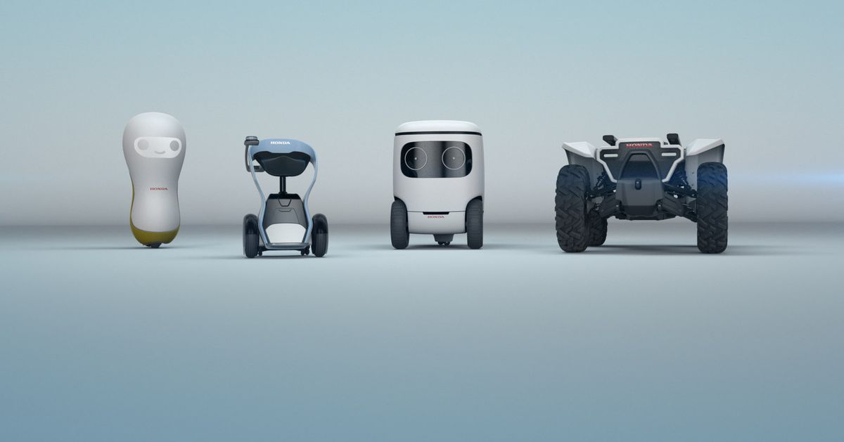 photo image Honda's cute new robot concepts only want to help