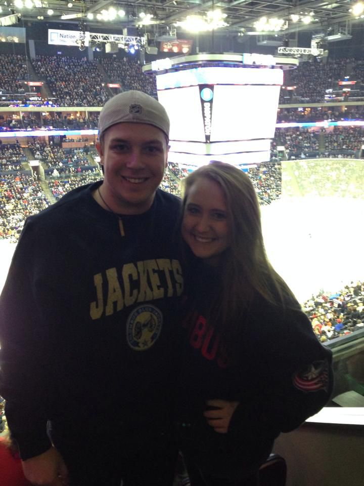 Me and my girlfriend in the CBJ Social Suite (remember that?) against Pittsburgh in December of 2004.