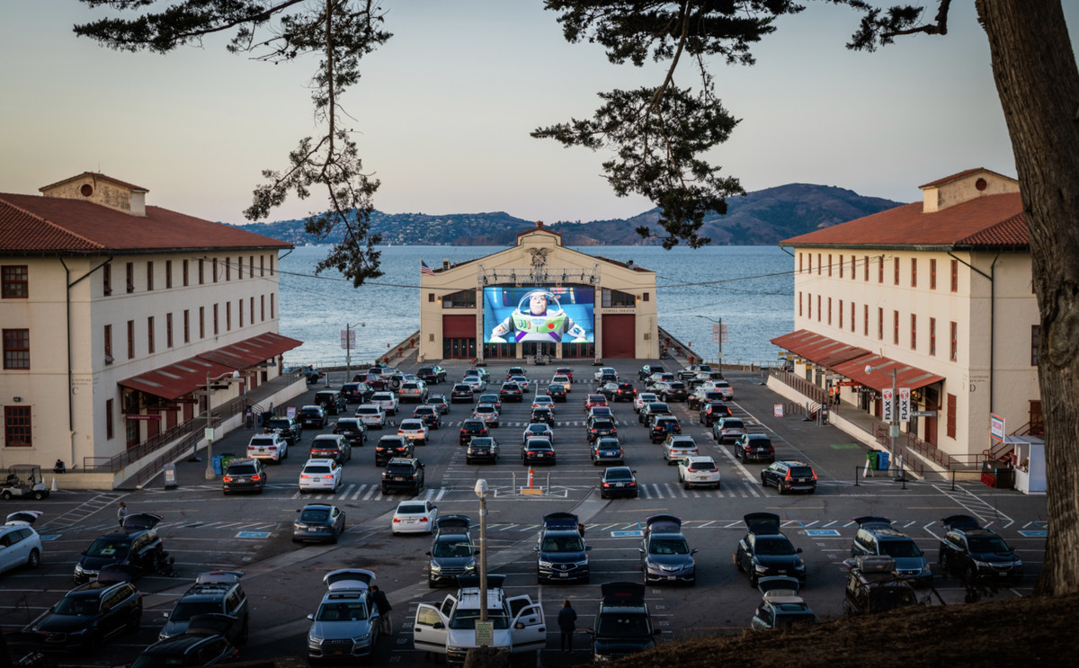 Drive-in movie at Fort Mason