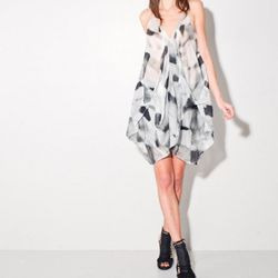 """Jan Ahlgren Strap Dress, <a href=""""http://www.oaknyc.com/jan-alhgren-black-grey-strap-dress-women.html"""" target=""""_blank"""" rel=""""nofollow"""">Oak</a>, $385"""